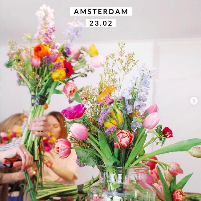 Цветочный воркшоп в Амстердаме